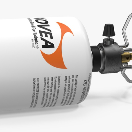Gas Cylinder with Camping Stove Kovea. Render 5