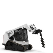 Compact Tracked Loader with Auger. Preview 4