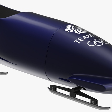 Bobsled Two Person Team GB. Render 2