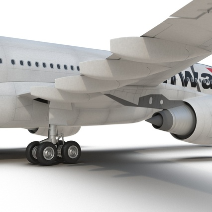 Jet Airliner Airbus A330-200 Northwest Airlines Rigged. Render 49