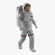 Astronaut Nasa Extravehicular Mobility Unit without Visor Rigged 2