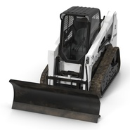 Compact Tracked Loader Bobcat With Blade Rigged. Preview 17
