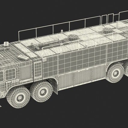 Oshkosh Striker 4500 Aircraft Rescue and Firefighting Vehicle Rigged. Render 5