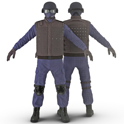 SWAT Uniform. Render 3