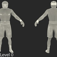 African American Boxer Rigged for Cinema 4D. Preview 25