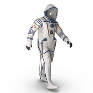 Russian Space Suit Sokol KV2 Rigged. Preview 19