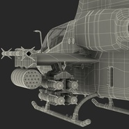 Attack Helicopter Bell AH 1Z Viper Rigged. Preview 112
