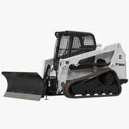 Compact Tracked Loader Bobcat With Blade. Preview 1