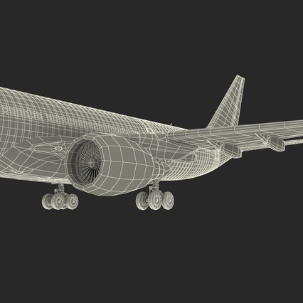 Jet Airliner Airbus A330-200 Northwest Airlines Rigged. Render 70