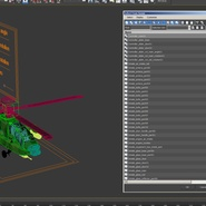 AH-64D Apache Longbow Japan Rigged. Preview 27