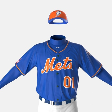 Baseball Player Outfit Mets 2. Render 21