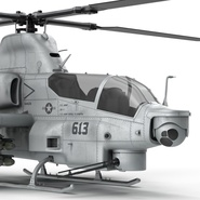 Attack Helicopter Bell AH 1Z Viper Rigged. Preview 46