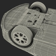 Generic Hybrid Car Rigged. Preview 89