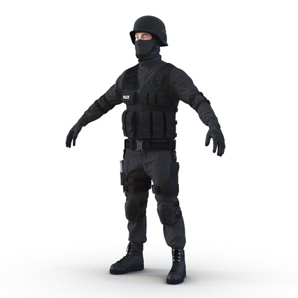SWAT Man Mediterranean Rigged for Maya. Render 18