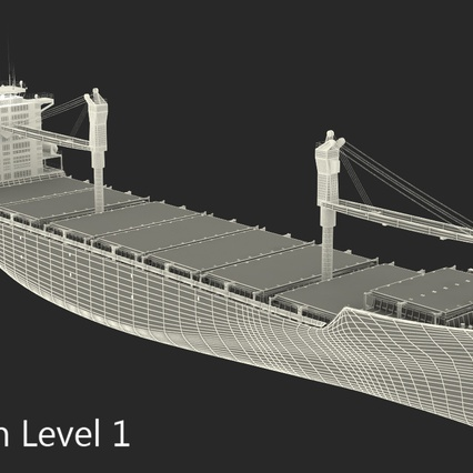 Sea Cargo Ship Generic. Render 25