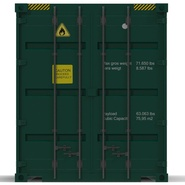 40 ft High Cube Container Green. Preview 16