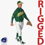 Baseball Player Rigged Athletics for Cinema 4D