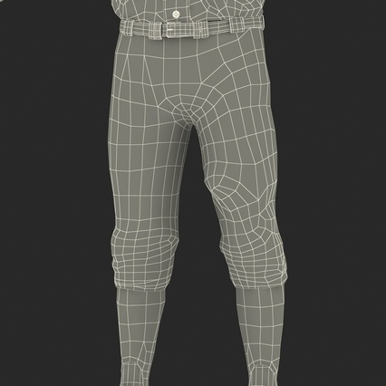 Baseball Player Outfit Athletics 3. Render 39