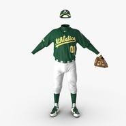 Baseball Player Outfit Athletics