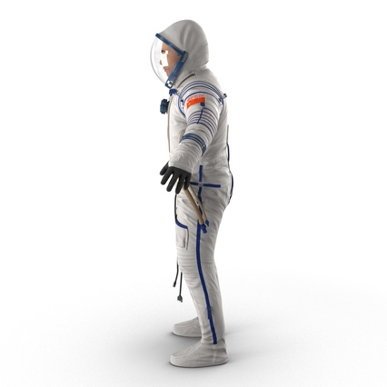 Russian Astronaut Wearing Space Suit Sokol KV2 Rigged for Maya. Render 14