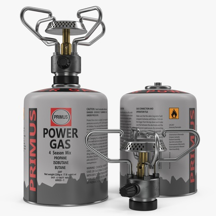 Gas Cylinder with Camping Stove. Render 2