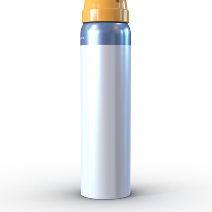 Metal Bottle With Sprayer Cap Generic. Render 10