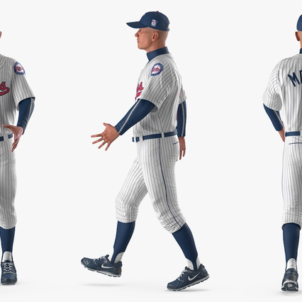 Baseball Player Rigged Twins 2. Render 11