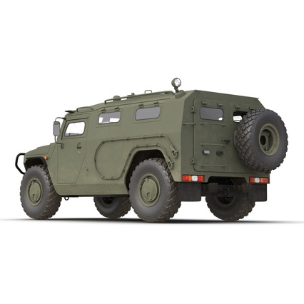 Russian Mobility Vehicle GAZ Tigr M Rigged. Render 25
