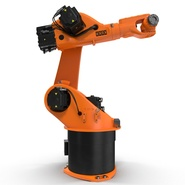 Kuka Robot KR 30-3 Rigged for C4D. Preview 7