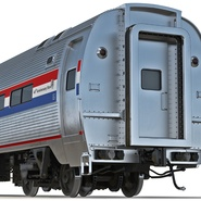 Railroad Amtrak Passenger Car 2. Preview 22