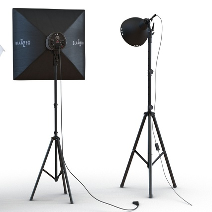 Photo Studio Lamps Collection. Render 16