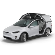 Tesla Model X Rigged. Preview 8