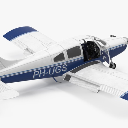 Piper PA-28-161 Cherokee Rigged. Render 13