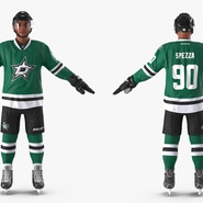Hockey Player Stars Rigged for Maya. Preview 10