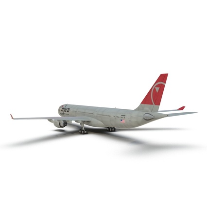 Jet Airliner Airbus A330-300 Northwest Airlines Rigged. Render 22