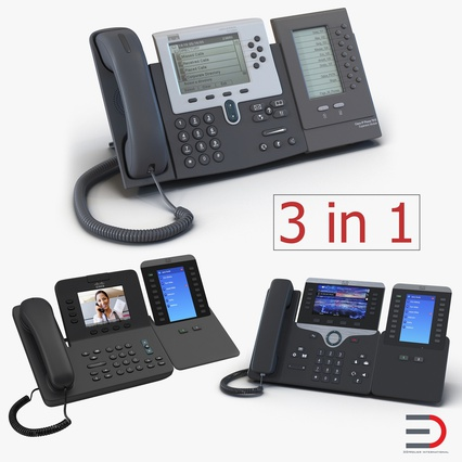 Cisco IP Phones Collection 6. Render 1