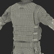 SWAT Man Mediterranean Rigged for Cinema 4D. Preview 56