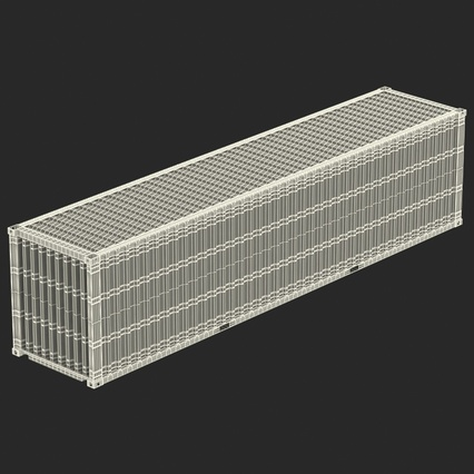 40 ft High Cube Container White. Render 43