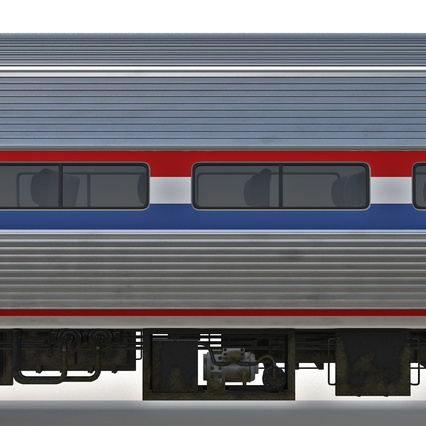 Railroad Amtrak Passenger Car 2. Render 33