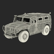 Russian Mobility Vehicle GAZ Tigr M Rigged. Preview 73
