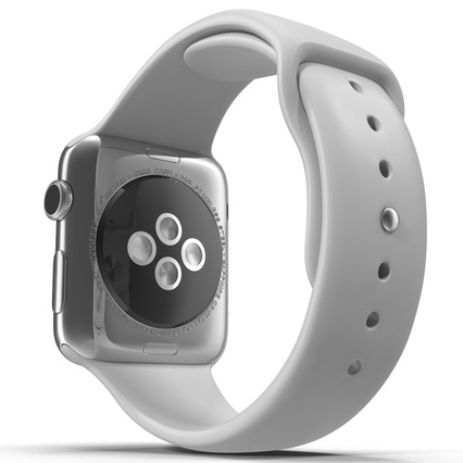 Apple Watch Sport Band White Fluoroelastomer 2. Render 18