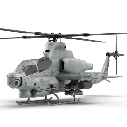 Attack Helicopter Bell AH 1Z Viper Rigged. Render 21