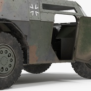 Fennek German Reconnaissance Vehicle Rigged. Preview 16
