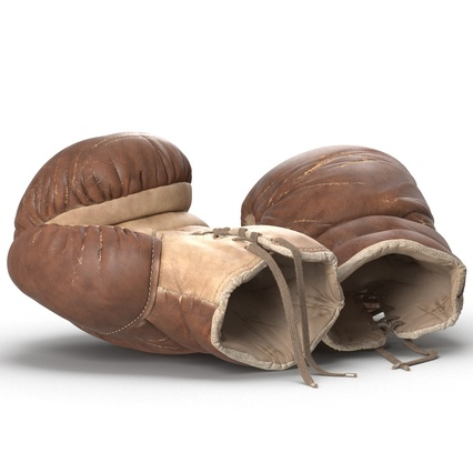 Old Leather Boxing Glove(1). Render 17