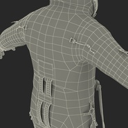 Russian Astronaut Wearing Space Suit Sokol KV2 Rigged for Maya. Preview 62