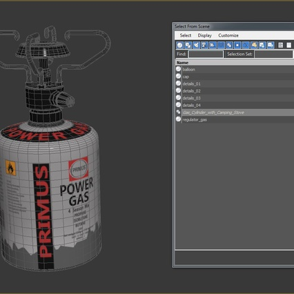 Gas Cylinder with Camping Stove. Render 17