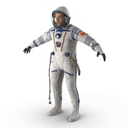 Russian Astronaut Wearing Space Suit Sokol KV2 Rigged for Maya. Preview 15