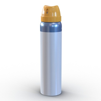 Metal Bottle With Sprayer Cap Generic. Render 5