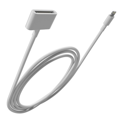 apple 30 pin to usb cable 3d model. Black Bedroom Furniture Sets. Home Design Ideas