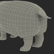 Hippopotamus Rigged for Cinema 4D. Preview 36